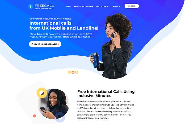 Free Call Website